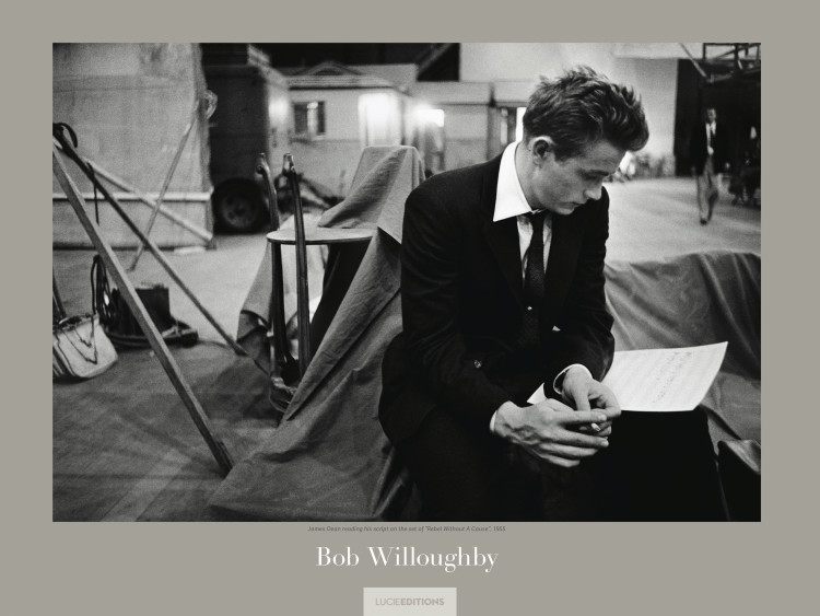bob willoughby poster james dean reading his script on. Black Bedroom Furniture Sets. Home Design Ideas